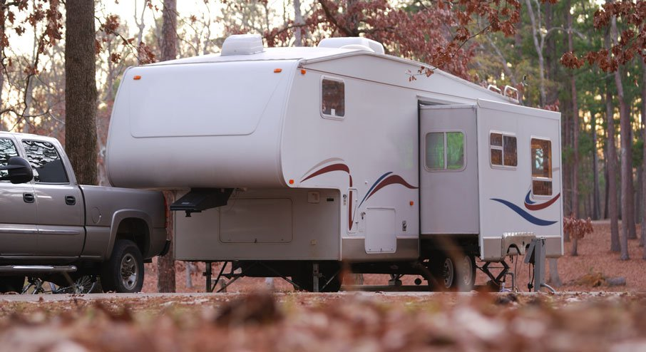 Fifth Wheeler Caravan